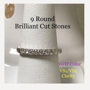 14K Solid WG diamond Ring FREE SHIPPING